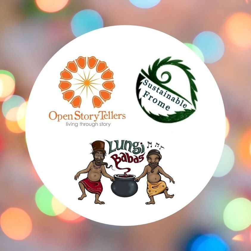 Open Story Tellers, Lungi Babas, Sustainable Frome logos